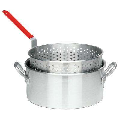 10 Qt. Aluminum Fry Pot with Basket