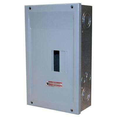 BR 125 Amp 2 Space 4 Circuit Indoor Main Lug Loadcenter with Cover