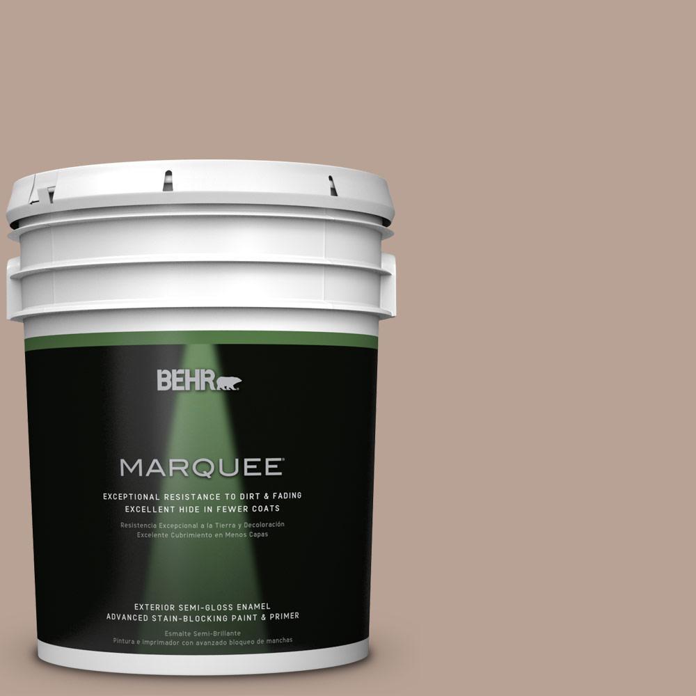 5-gal. #N190-4 Rugged Tan Semi-Gloss Enamel Exterior Paint