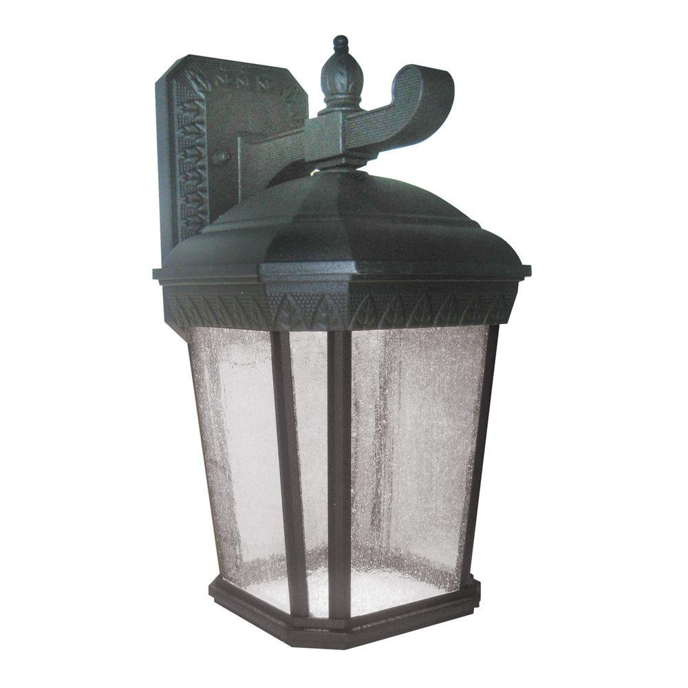 Aspects Bronson Black Outdoor Integrated LED Wall Mount Lantern ...