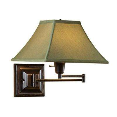 Kingston 1-Light Bronze/Copper Swing-Arm Pin-Up Lamp