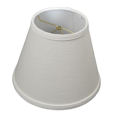 Fenchel Shades 5 in. Top Diameter x 9 in. Bottom Diameter x 7 in. Slant, Empire Lamp Shade - Designer Linen Off White