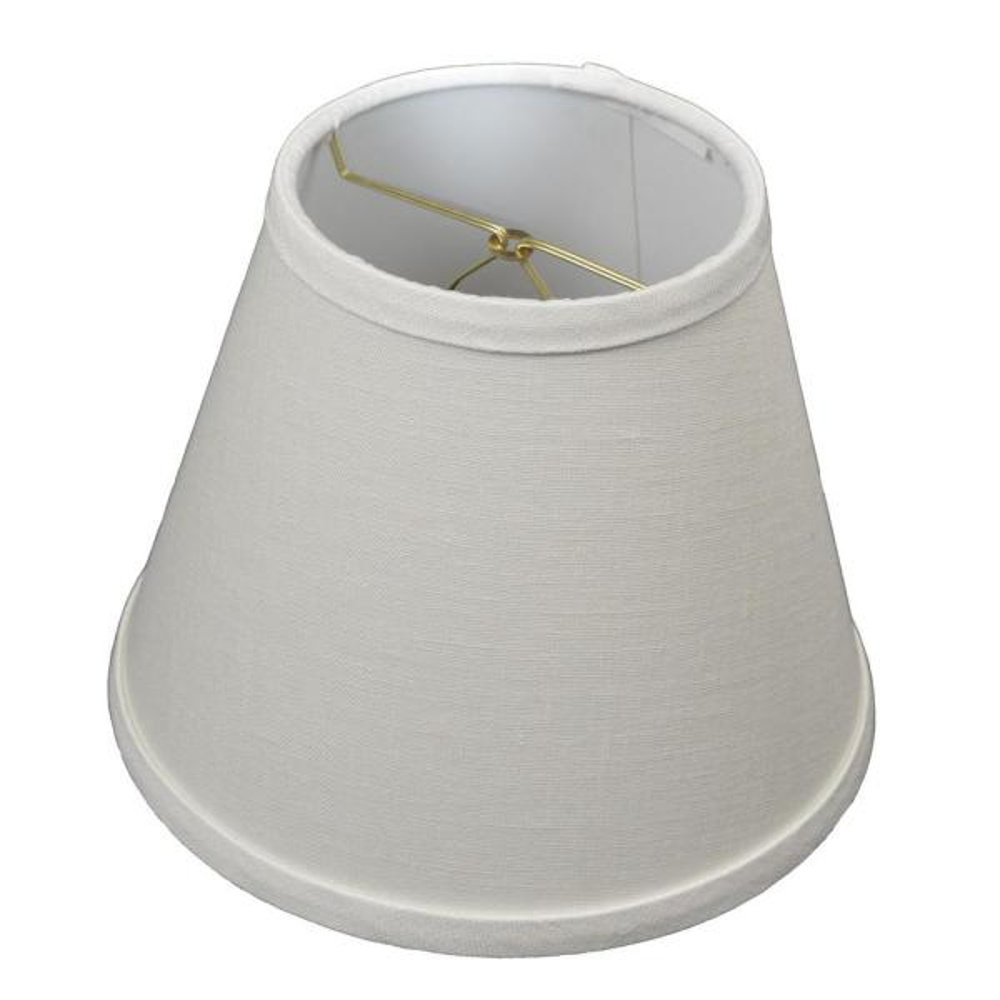 Fenchel Shades 5 in. Top Diameter x 9 in. Bottom Diameter x 7 in. Slant, Empire Lamp Shade - Designer Linen Off White