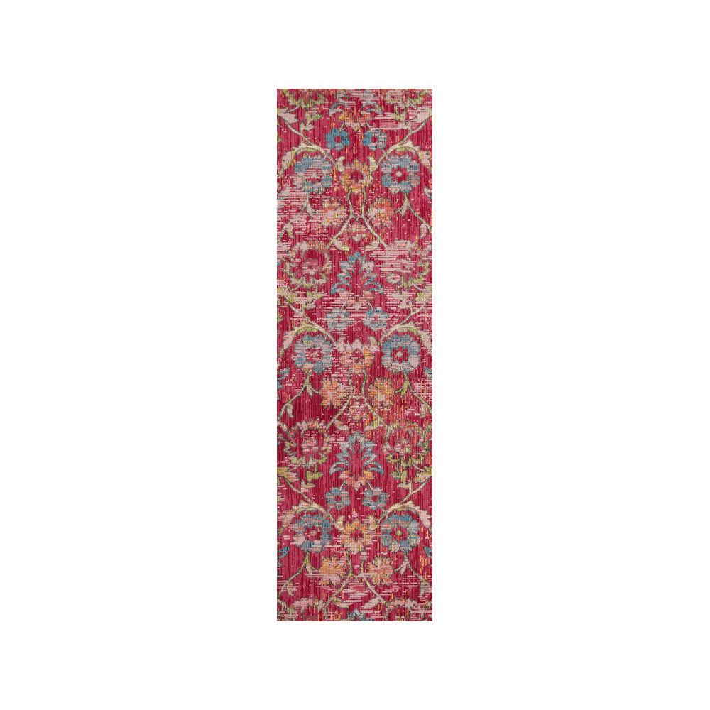 Kas Rugs Dreamweaver Pink Delaney 3 Ft X 8 Runner