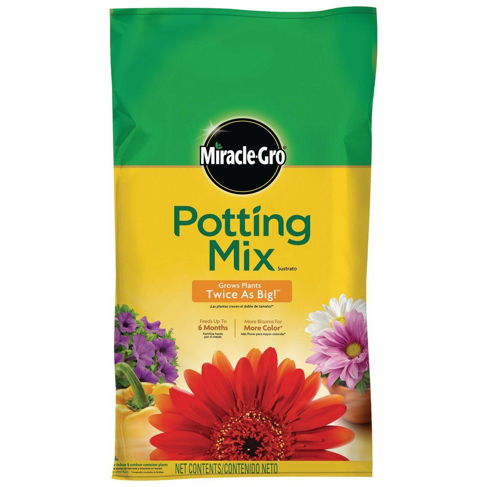 Miracle Gro 50 Qt Potting Mix 72790430 The Home Depot