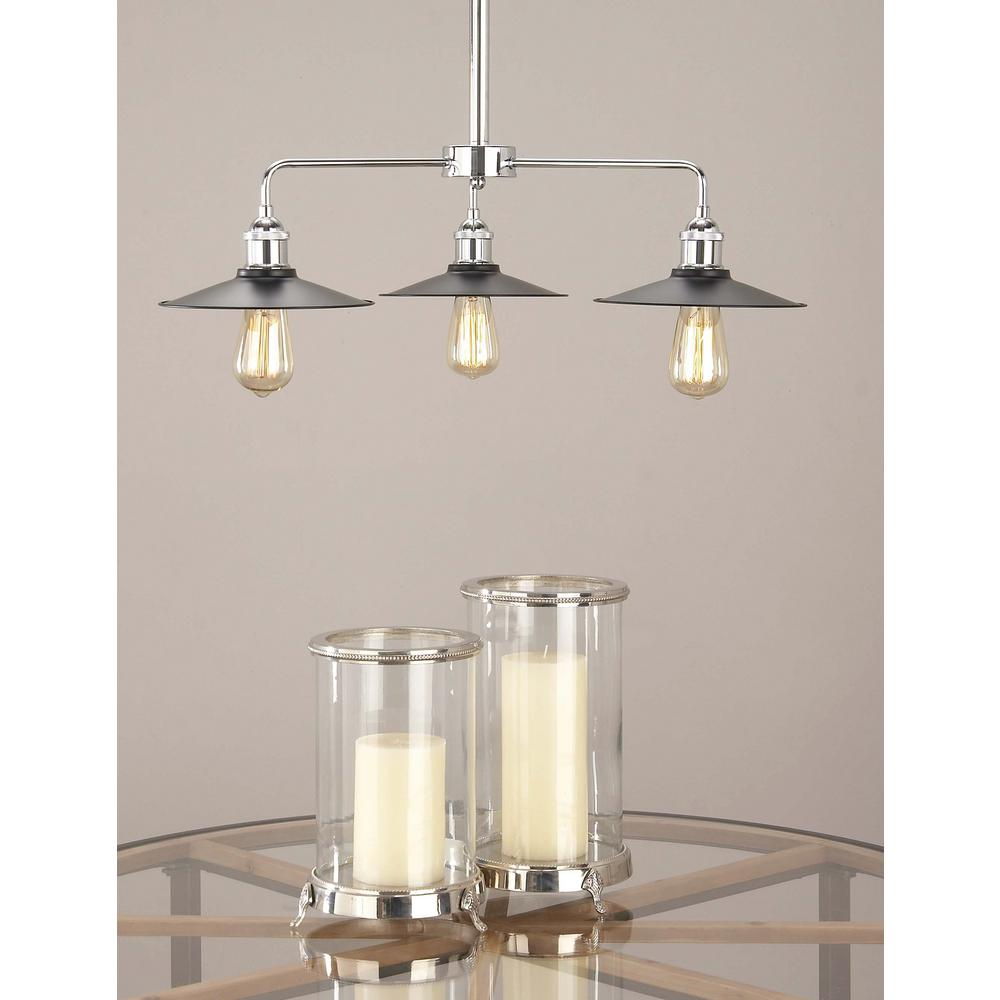 Light Industrial To Rent In Strawberry Lane Industrial: Litton Lane Modern 3-Light Black Metal Pendant With Bulb
