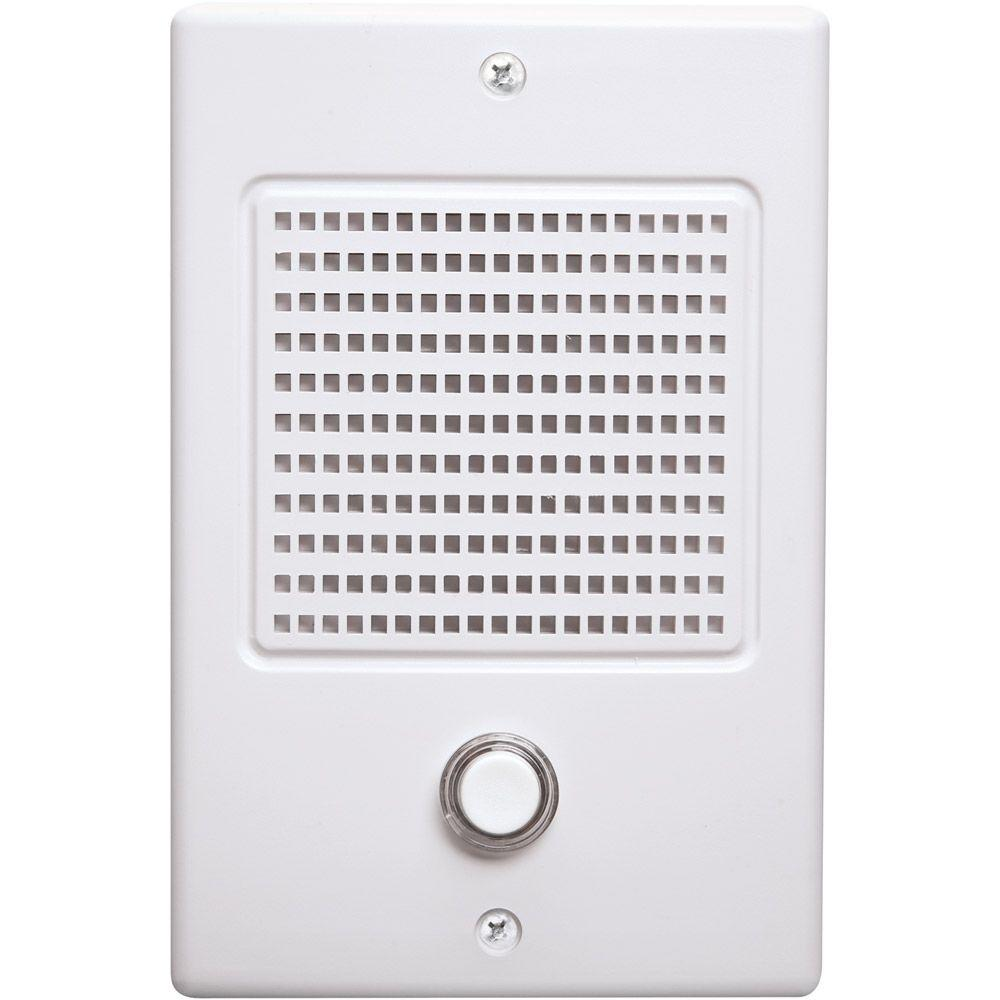 NuTone NM Series Door Speaker-NDB300WH - The Home Depot