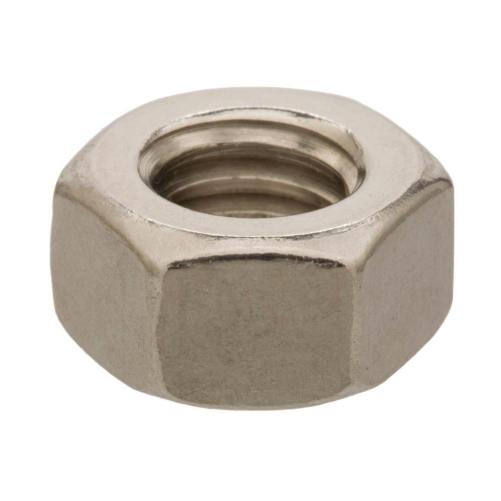 3/8 in.-16 tpi Coarse Stainless-Steel Hex Nut (100-Piece per Box)