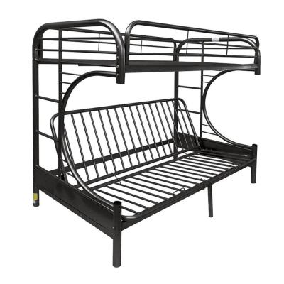 Black Opal Metal Twin Bed with Futon Base