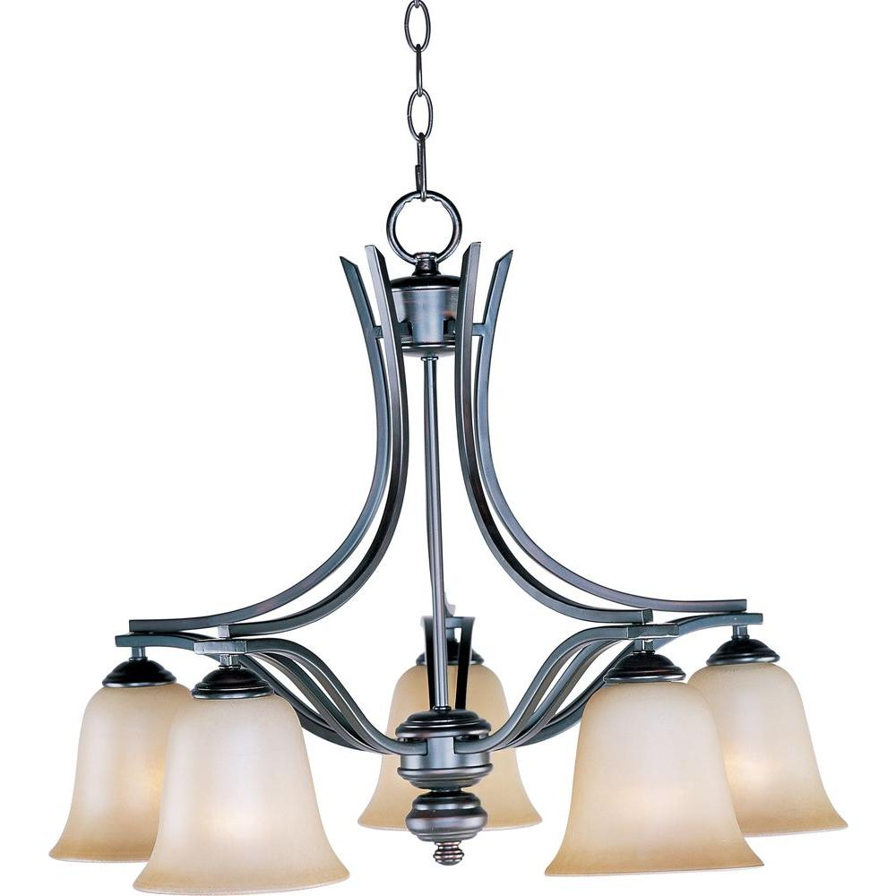 Maxim Lighting Madera 5 Light Oil Rubbed Bronze Down Chandelier
