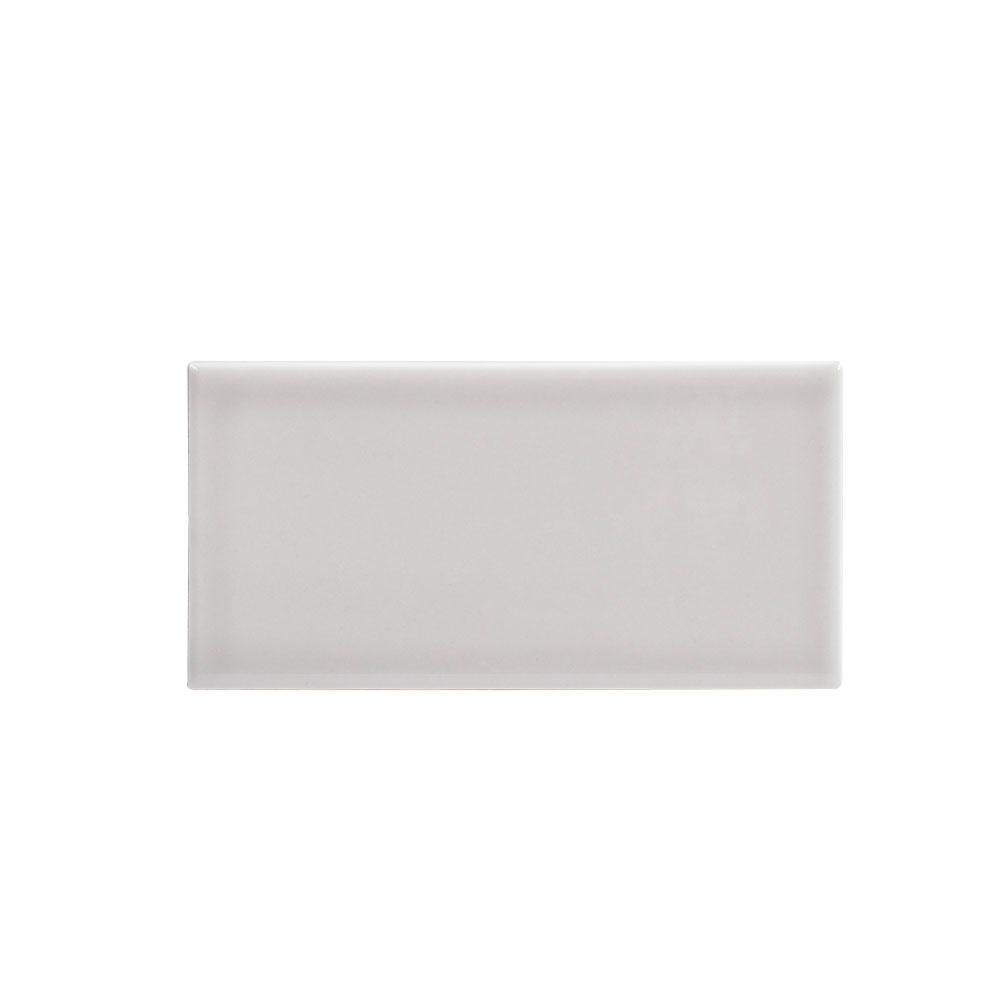 Jeffrey Court 3 in. x 6 in. Weather Grey Ceramic Wall Tile