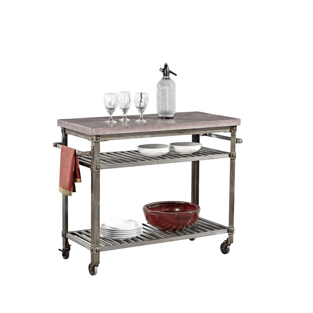 internet home styles urban style aged metal kitchen cart