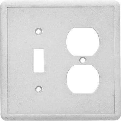 Duplex Toggle Combo Wall Plate, Gray