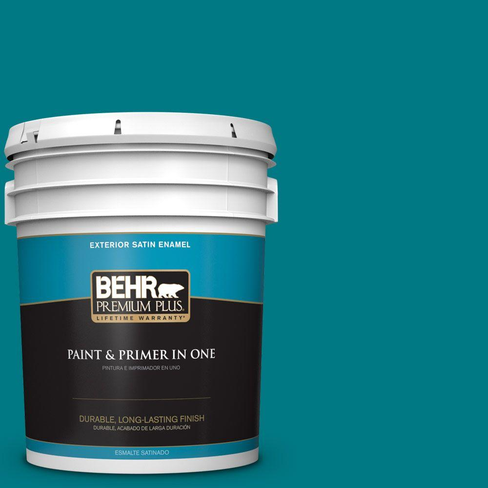 5-gal. #P470-7 The Real Teal Satin Enamel Exterior Paint