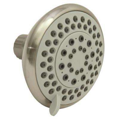 5-Spray 4 in. Fixed Shower Head in Brushed Nickel