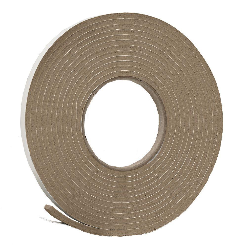 E/O 3/8 in. x 3/16 in. 17 ft. Brown Vinyl Foam