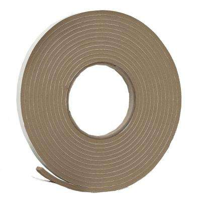 E/O 3/8 in. x 3/16 in. 17 ft. Brown Vinyl Foam Weather-Seal Self-Stick Tape