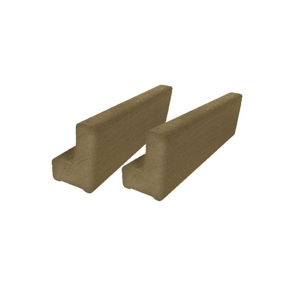 Vantage 6 ft. Earthtone Solid Composite Universal Base Rail or Hand Rail (2-Pack)