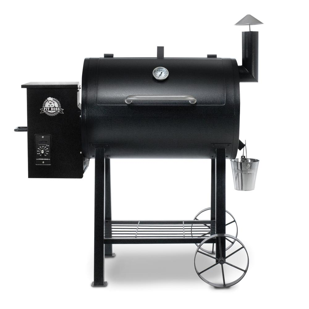 Pit boss 820fb pellet grill in black 71820fb the home depot - Pellet grills and smokers ...