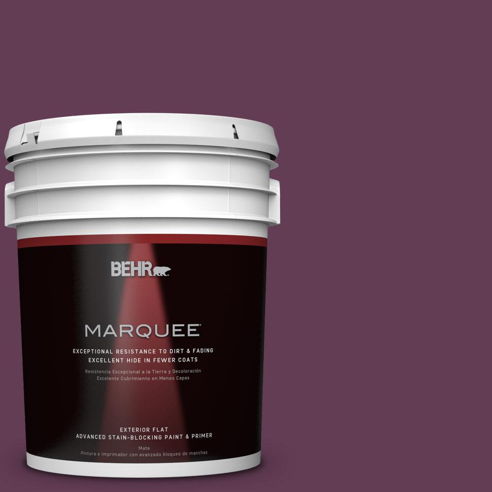 5-gal. #S-G-690 Delicious Berry Flat Exterior Paint