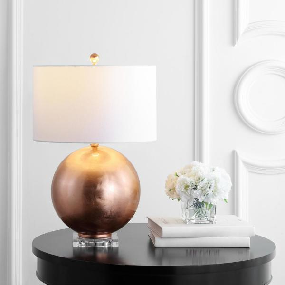 Safavieh Sansa 20 5 In White Sculpture Table Lamp With White