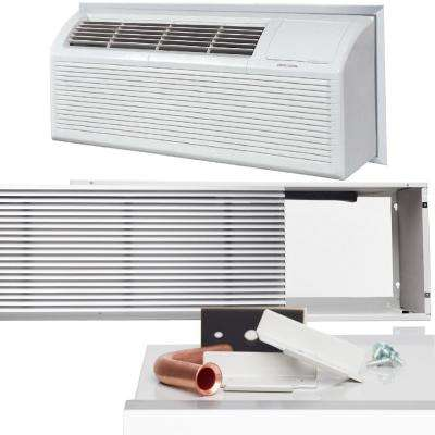 12,000 BTU Packaged Terminal Heat Pump Air Conditioner (1 Ton) + 3.5 kW Electrical Heater, Insert, Grill (10.5 EER) 230V