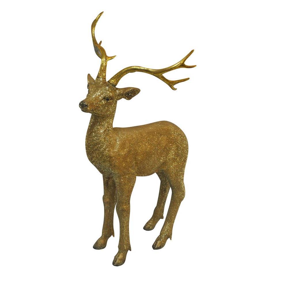 30 in. Gold Deer Statue