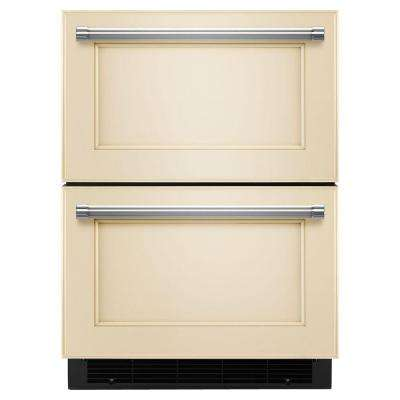 24 in. W 4.7 cu. ft. Double Drawer Refrigerator Freezer in Panel Ready, Counter Depth