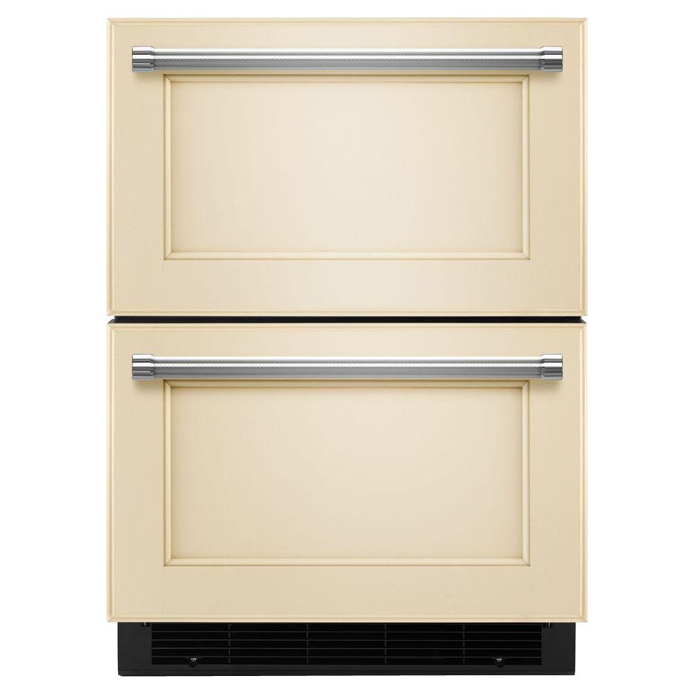 KitchenAid 4.7 Cu. Ft. Double Drawer Refrigerator Freezer In Panel Ready,  Counter Depth