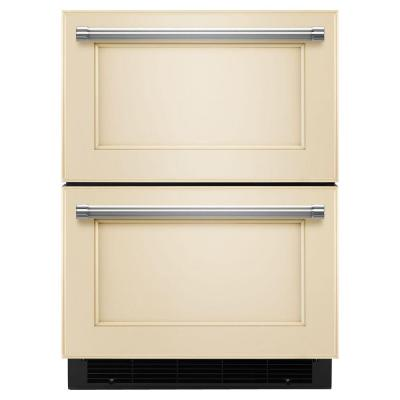 4.7 cu. ft. Double Drawer Refrigerator Freezer in Panel Ready, Counter Depth