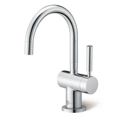 indulge modern instant hot and cold water dispenser faucet in chrome