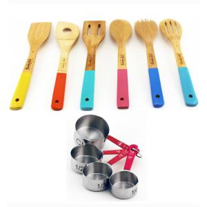Click here to buy BergHOFF 10-Piece Wooden Utensil and Measuring Cup Set by BergHOFF.