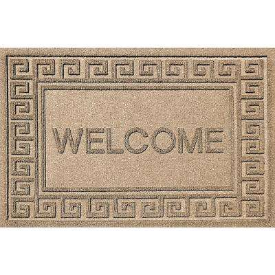 Greek Welcome Camel 24 in. x 36 in. Polypropylene Door Mat