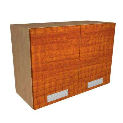 Ready to Assemble 36x21x12 in. Genoa Wall Cabinet with 2 Soft Close Doors in Cognac