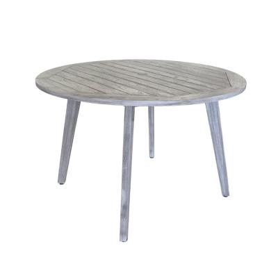 La Jolla Collection Teak Outdoor Dining Table with Umbrella Hole and Cover