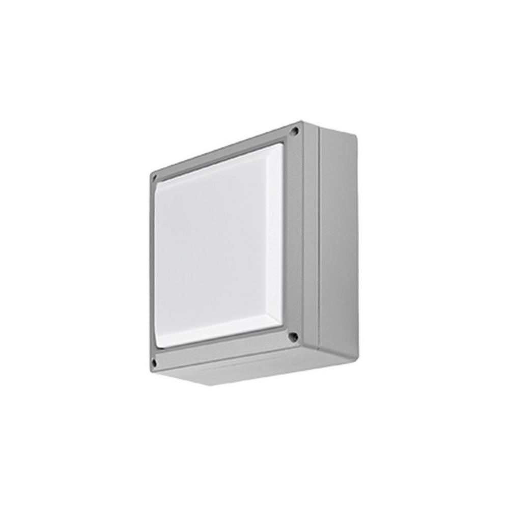 Radionic Hi Tech Lisle Gray Outdoor Integrated LED Wall Lantern Sconce