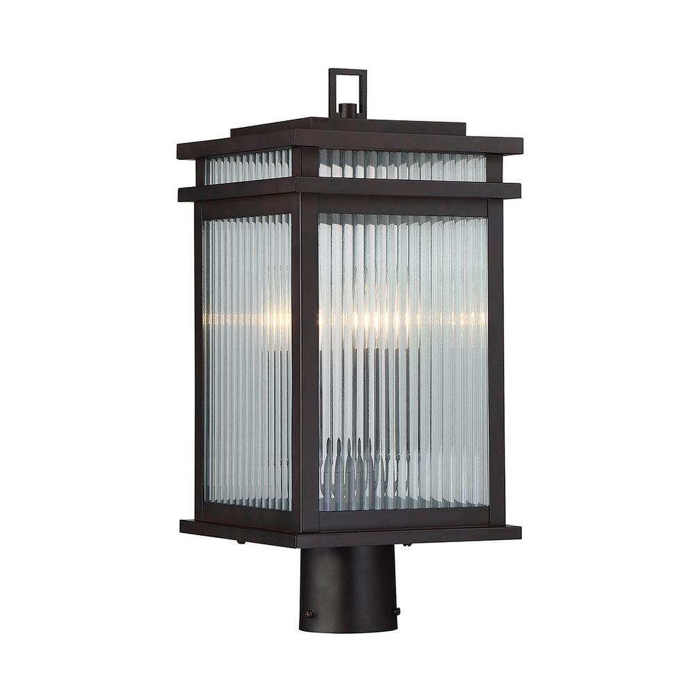 2-Light Outdoor English Bronze Post Light