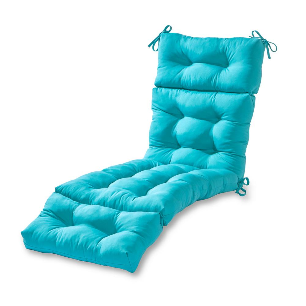 Greendale Home Fashions Solid Teal Outdoor Chaise Lounge