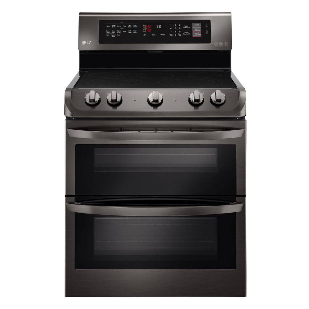 Lg Electronics 7 3 Cu Ft Double Oven Electric Range With Probake Convection Self
