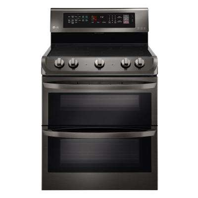 7.3 cu. ft. Double Oven Electric Range with ProBake Convection Oven in Black Stainless Steel