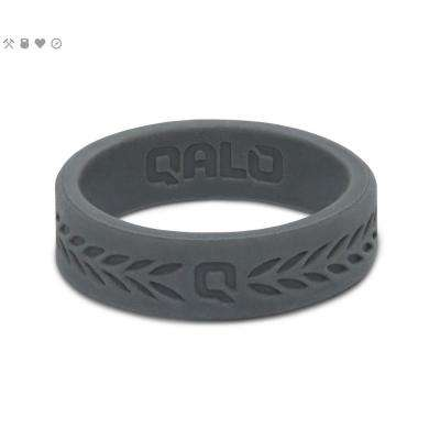 Women's Charcoal Laurel Q2X Silicone Wedding Ring
