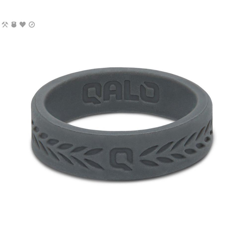 Women's Charcoal Laurel Q2X Silicone Wedding Ring