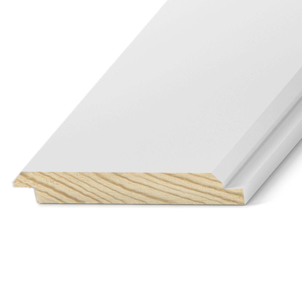 Pattern Stock Primed-Treated V-Rustic Board (Nominal: 1 in. x 8 in ...