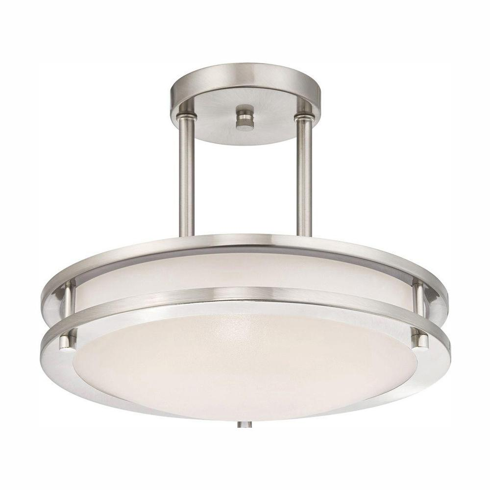Westinghouse 75 Watt Brushed Nickel Integrated Dimmable Energy Star Led Semi Flush Mount