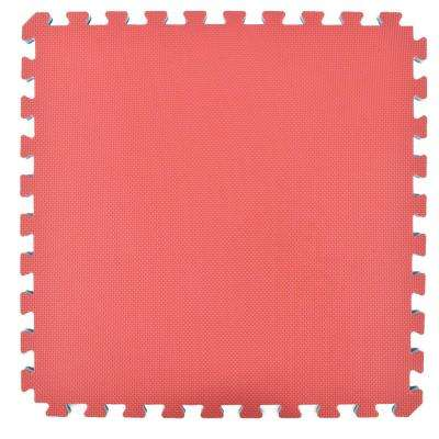 Home Sport and Play Red/Blue 24 in. x 24 in. x 7/8 in. Foam Interlocking Floor Tile (Case of 25)
