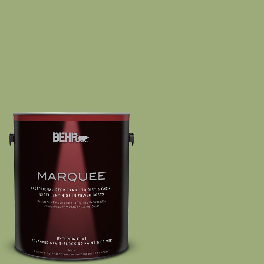 1-gal. #BIC-12 Siamese Green Flat Exterior Paint