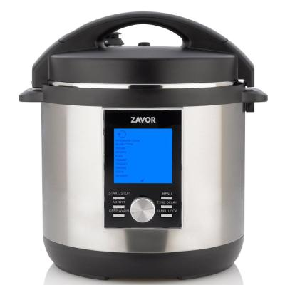 LUX LCD 6 Qt. Stainless Steel Electric Pressure Cooker with Stainless Steel Cooking Pot
