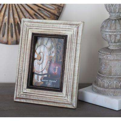1-Opening 7 in. x 9 in. Rustic White Picture Frame