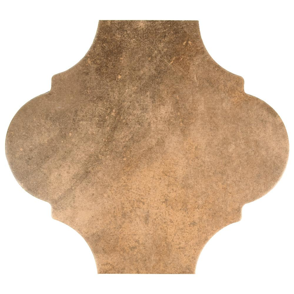 Merola Tile Merola Tile Fusion Provenzal Clay 10-3/8 in. x 11-3/8 in. Porcelain Floor and Wall Tile, Clay / Low Sheen