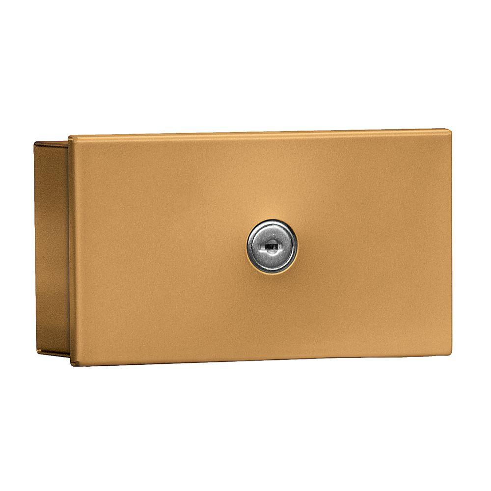 Salsbury Industries 1080 Series Private Surface Mounted Key Keeper with Commercial Lock in Brass
